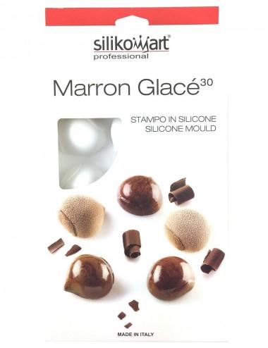 PLAQUE SILIKOMART - 15 MARRONS