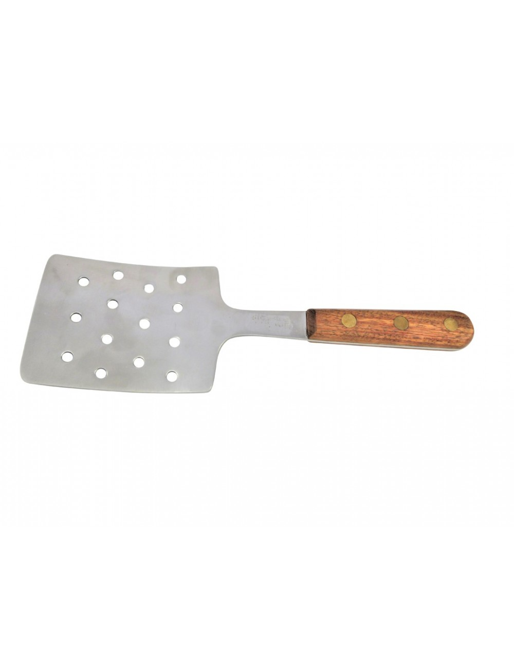 STAINLESS STEEL SLOTTED SPATULA - ROSEWOOD HANDLE