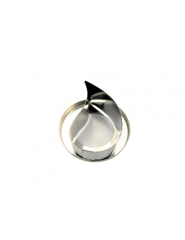 STAINLESS STEEL CUTTER - TEARDROP-SHAPED