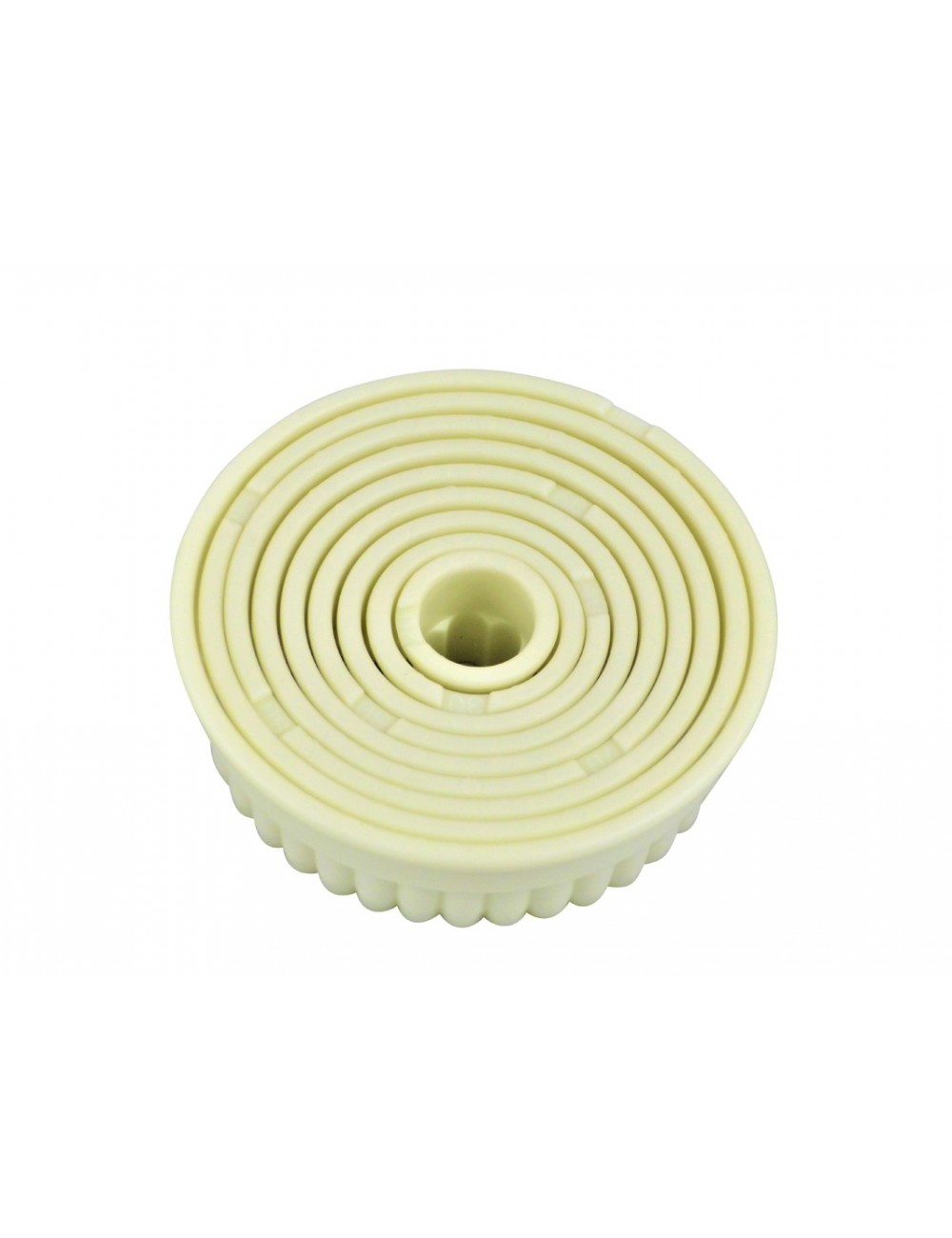 BOX OF 9 ROUND FLUTED CUTTERS - POLYGLASS