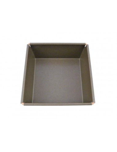 SQUARE LOOSE BASE MOULD - NON-STICK