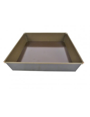 SQUARE LOOSE BASE MOULD - NON-STICK COATING - REMOVABLE BASE
