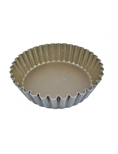 ROUND FLUTED LOOSE BASE MOULD - NON-STICK COATING - REMOVABLE BASE
