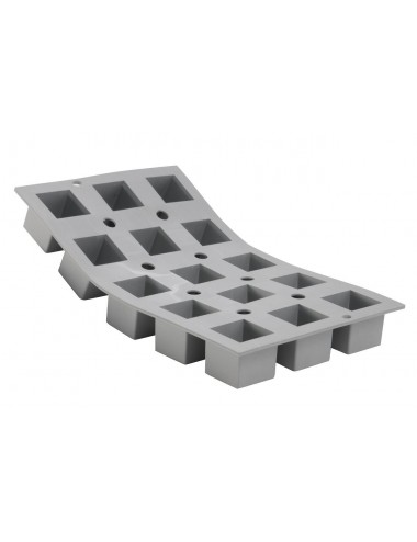 ELASTOMOULE 1/3 FLEXIBLE MOULD - 15 CUBES