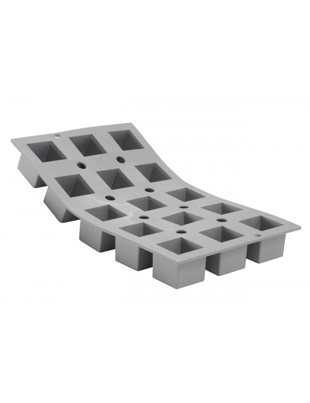 PLAQUE 1/3 ELASTOMOULE - 15 CUBES