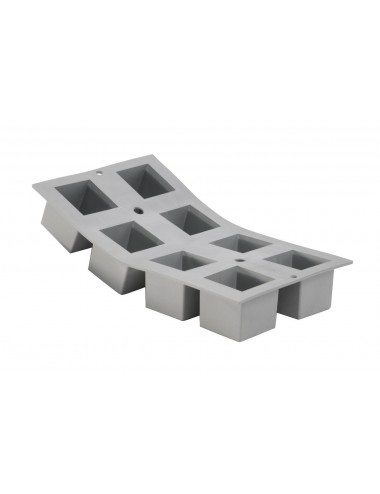 ELASTOMOULE 1/3 FLEXIBLE MOULD - 8 CUBES