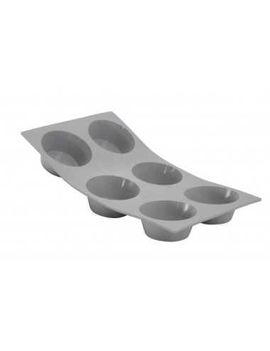 ELASTOMOULE 1/3 FLEXIBLE MOULD - 6 MUFFINS