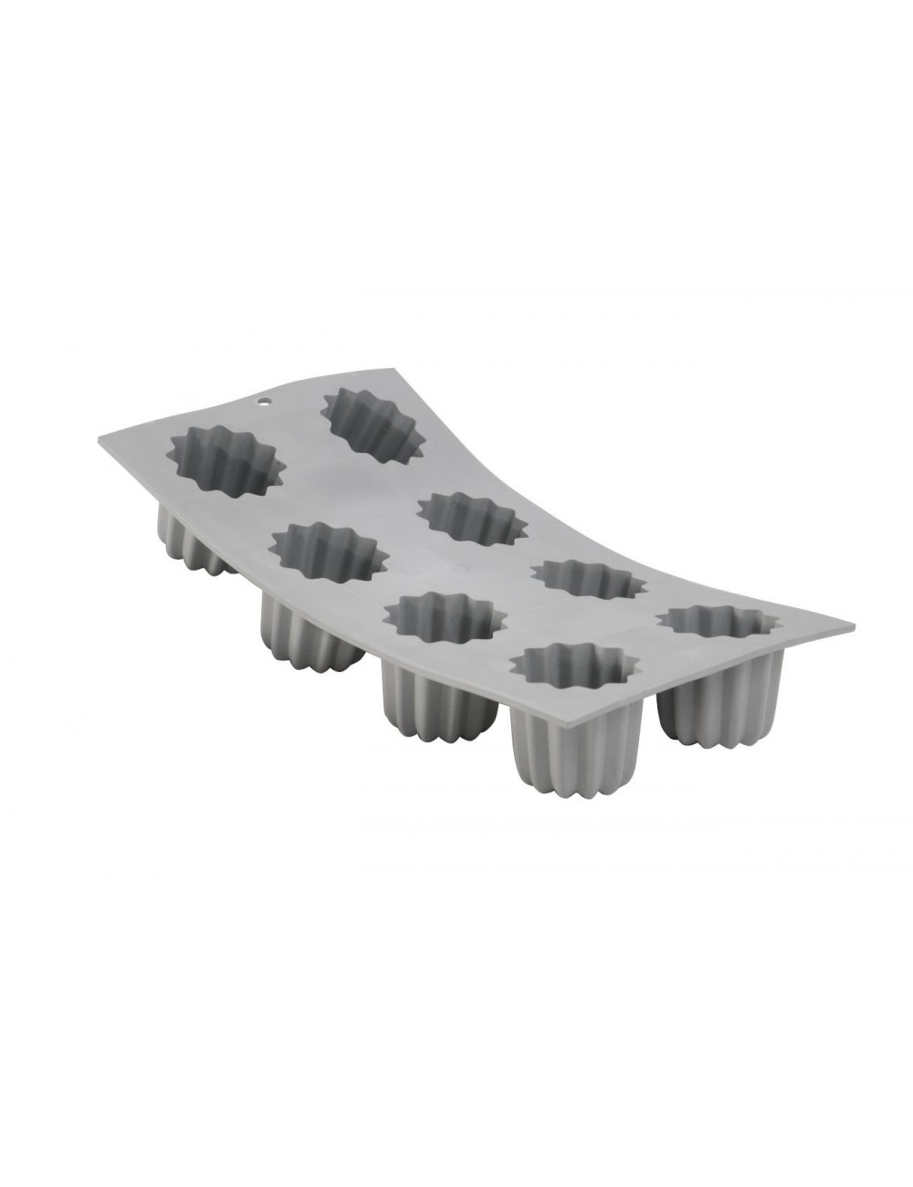 ELASTOMOULE 1/3 FLEXIBLE MOULD - 6 CANNELES