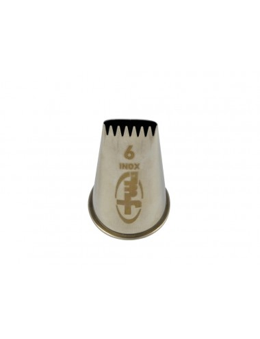 LOG NOZZLE WITH TEETH - STAINLESS STEEL