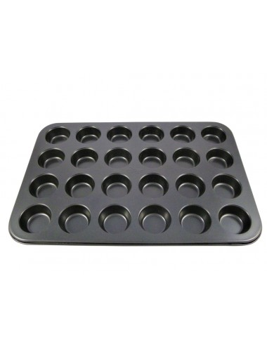 PLAQUE A MINI MUFFINS 24 CAVITES - ANTI-ADHESIF