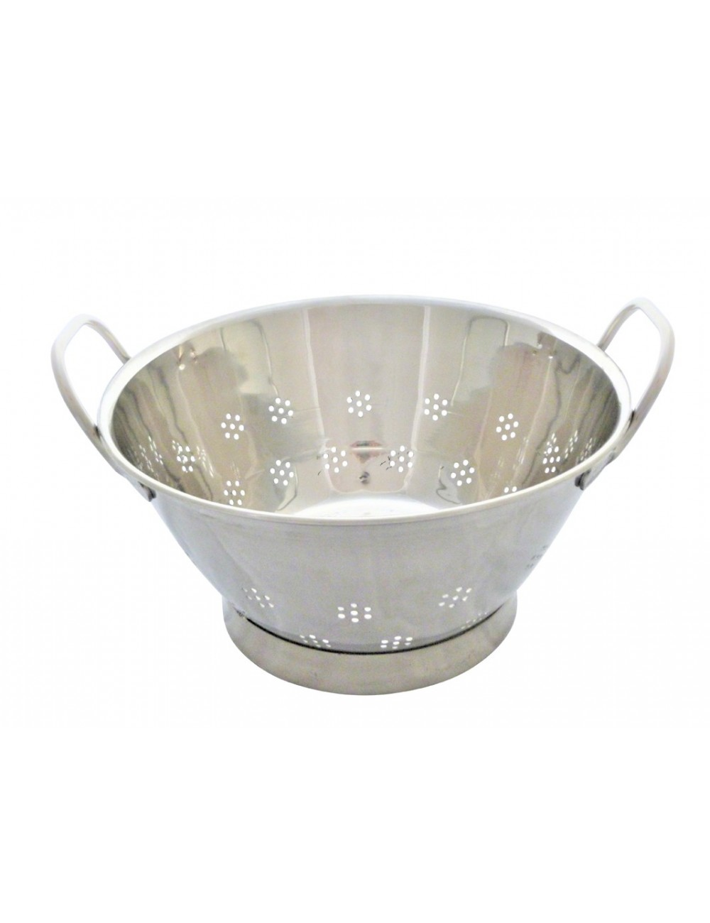 STAINLESS STEEL CONICAL STRAINER WITH CIRCULAR FOOT