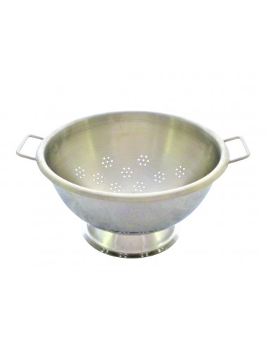 HEMISPHERICAL STAINLESS STEEL COLLANDER ON A BASE