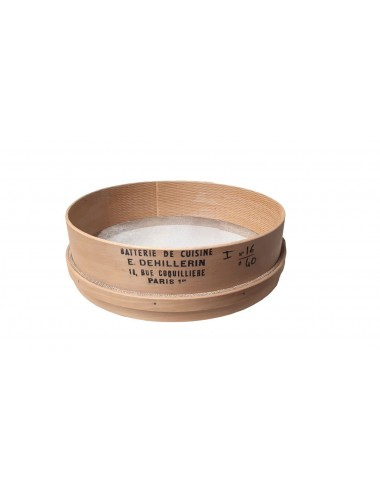 WOODEN STRAINER - IRON MESH - DIAMETER 40