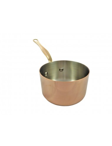 SAUCEPAN IN COPPER & STAINLESS STEEL - TABLE SERVICE - BRONZE HANDLE
