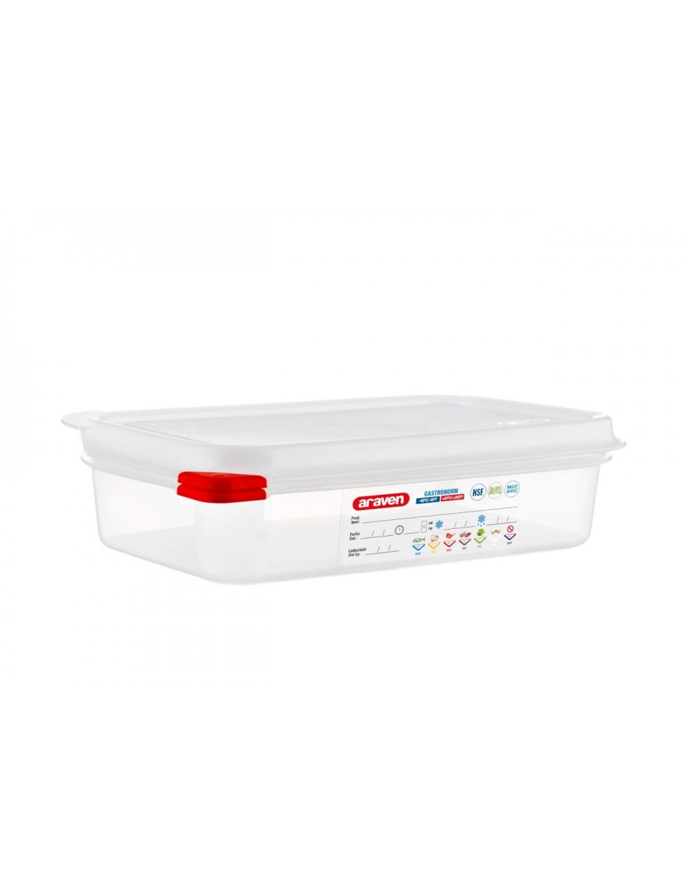 AIRTIGHT CONTAINER - GN 1/4 - Height 65 mm