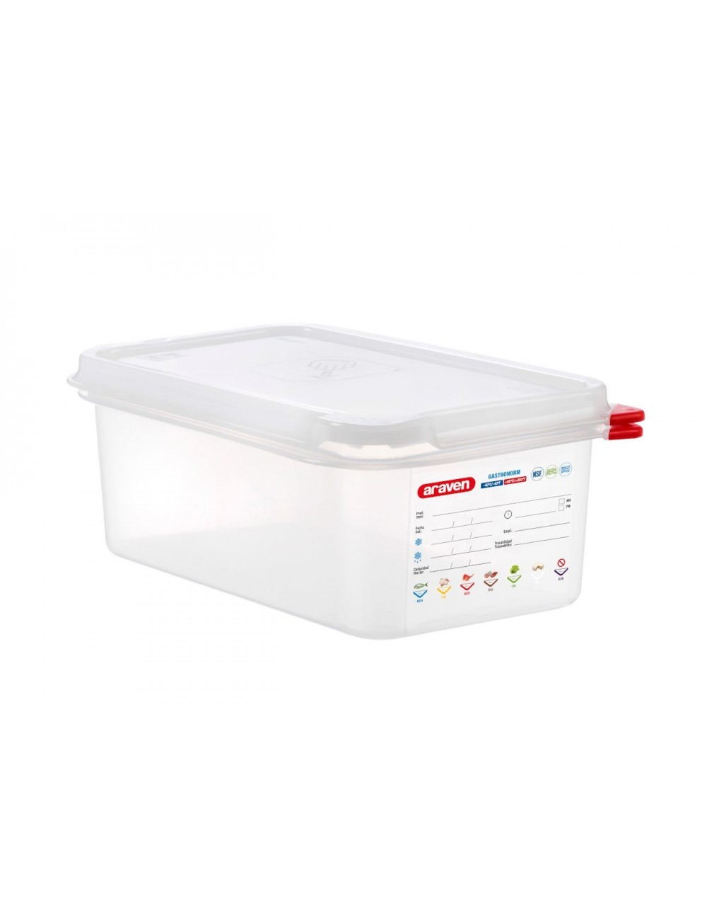 AIRTIGHT CONTAINER - GN 1/4 - Height 100 mm