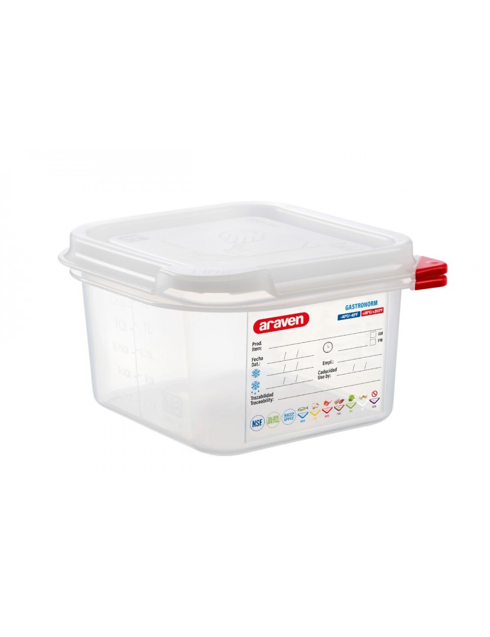 AIRTIGHT CONTAINER - GN 1/6 - Height 100 mm
