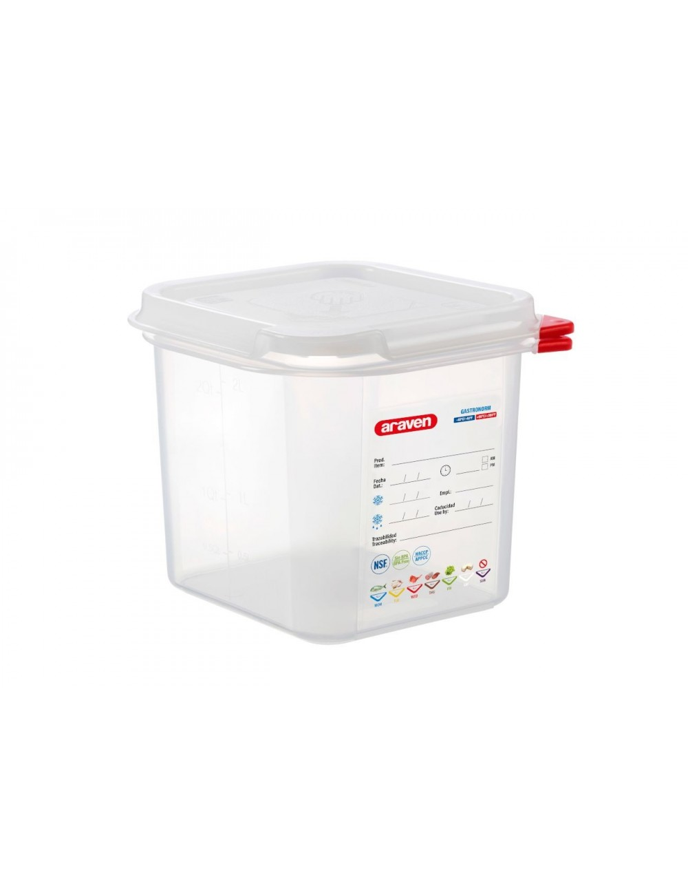 AIRTIGHT CONTAINER - GN 1/6 - Height 150 mm