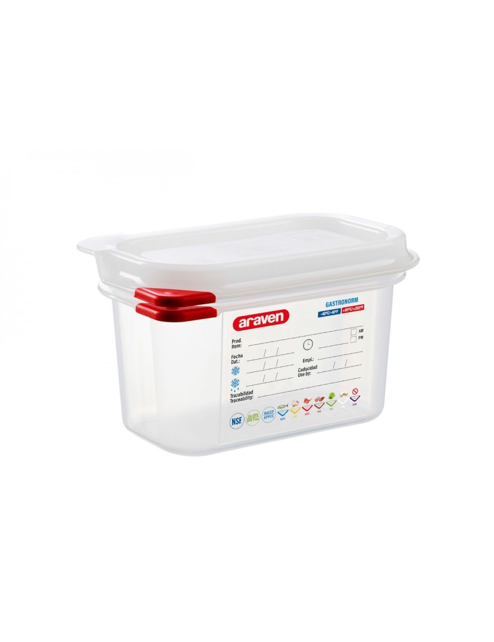 AIRTIGHT CONTAINER - GN 1/9 - Height 100 mm