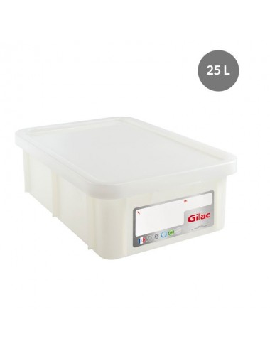 WHITE RECTANGULAR CONTAINER WITHOUT LID - 25 L