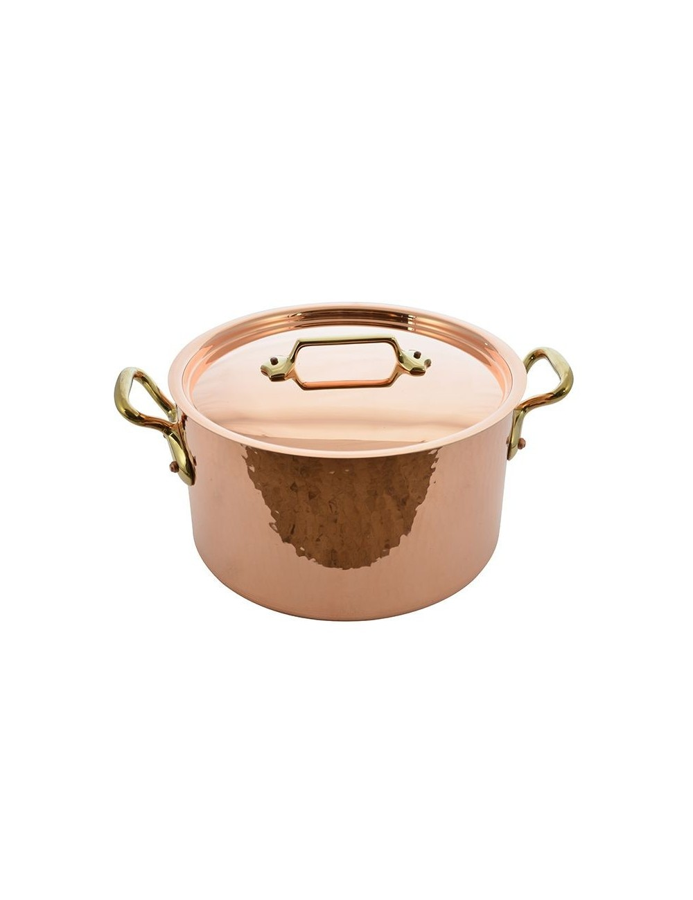STEWPOT COPPER LINED TIN WITH LID