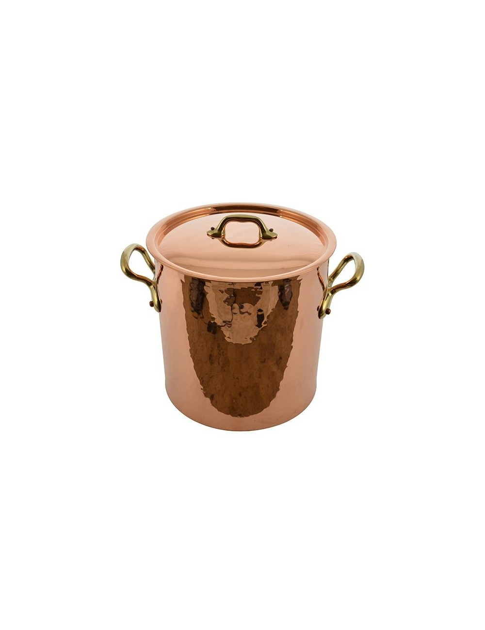STOCK POT WITH LID IN COPPER TIN