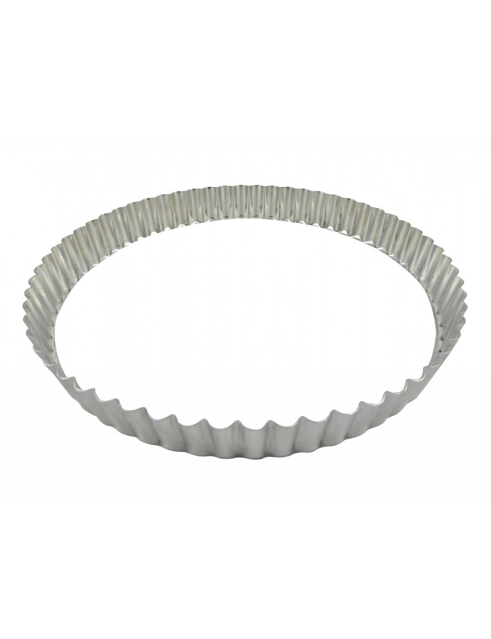 ROUND FLUTED TART MOULD - LOOSE BOTTOM - TIN