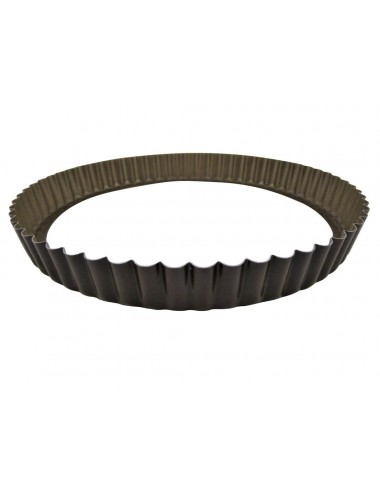 ROUND FLUTED TART MOULD - LOOSE BOTTOM - NON-STICK