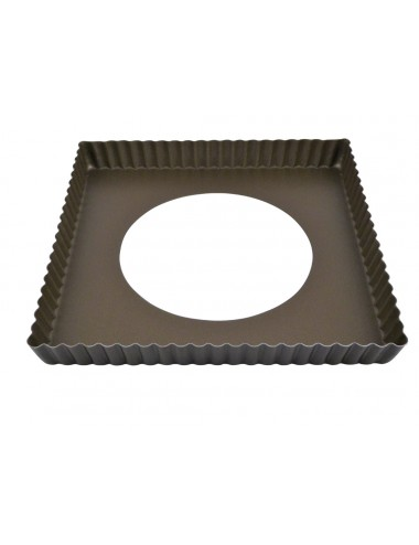 SQUARE FLUTED TART MOULD - LOOSE BOTTOM - NON-STICK