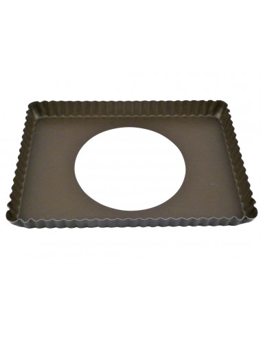 RECTANGULAR FLUTED TART MOULD - LOOSE BOTTOM - NON-STICK