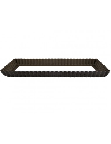OBLONG FLUTED TART MOULD - LOOSE BOTTOM - NON-STICK