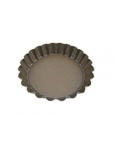TARTELETTE RONDE CANNELEE - FOND MOBILE - ANTI-ADHERENT