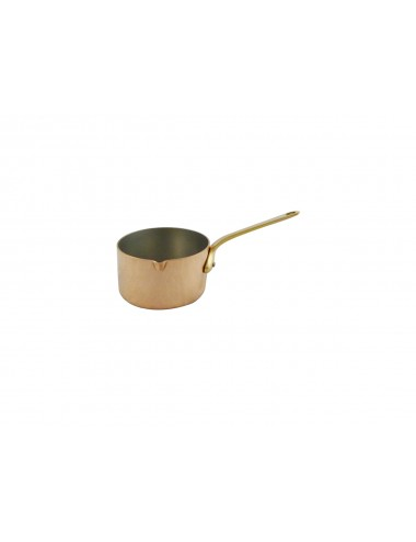 CUPRINOX SMALL SAUCEPAN WITH SPOUT - BRONZE HANDLE