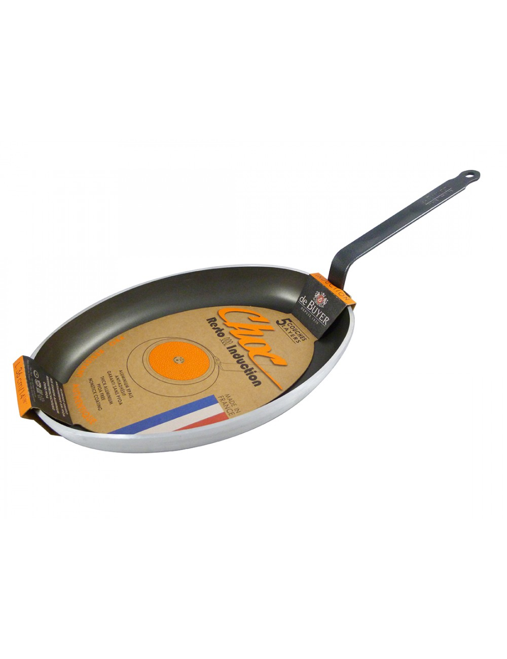 FISH OVAL NON-STICK FRYPAN - CHOC INDUCTION