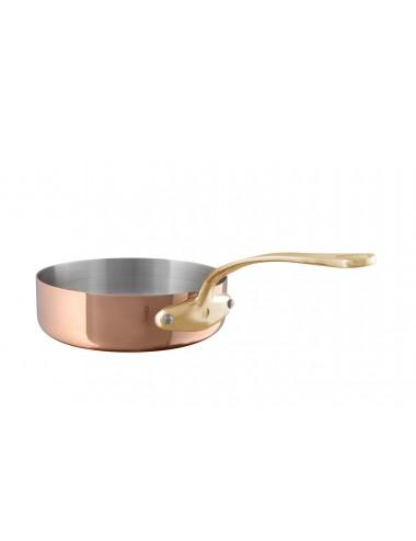 SAUTE PAN IN COPPER S/STEEL M200 - BRONZE HANDLE