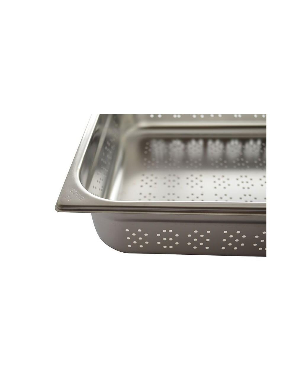 Bac gastro inox perfore 1 3 materiel de cuisson for Bac de cuisson inox