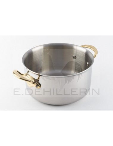 POT HAS STEW INDUC'WITH STAINLESS STEEL LID