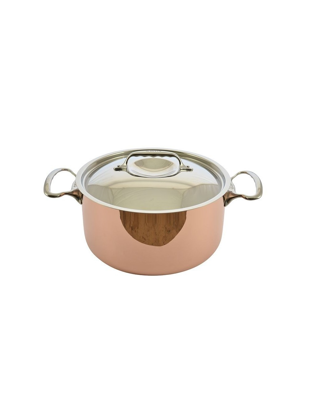 RAGOUT CUIVRE INDUCTION COUVERCLE INOX