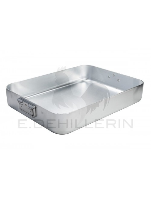 Roasting Pan With Folding Handles In Aluminium
