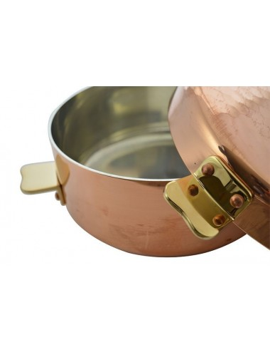 Pomme Anna Saucepan In Copper Tin Cooking Utensil Choix