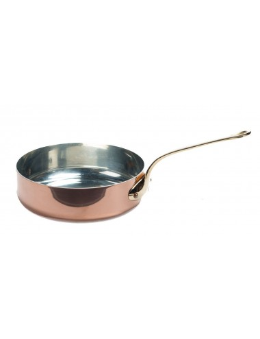 Saute Pan In Copper Tin Extra Thick With Bronze Handle