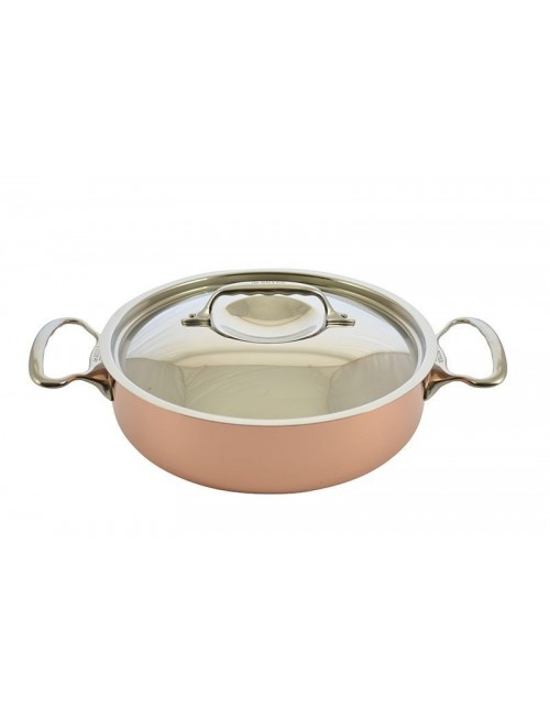 Saute Pan In Copper S Steel With Lid Induction