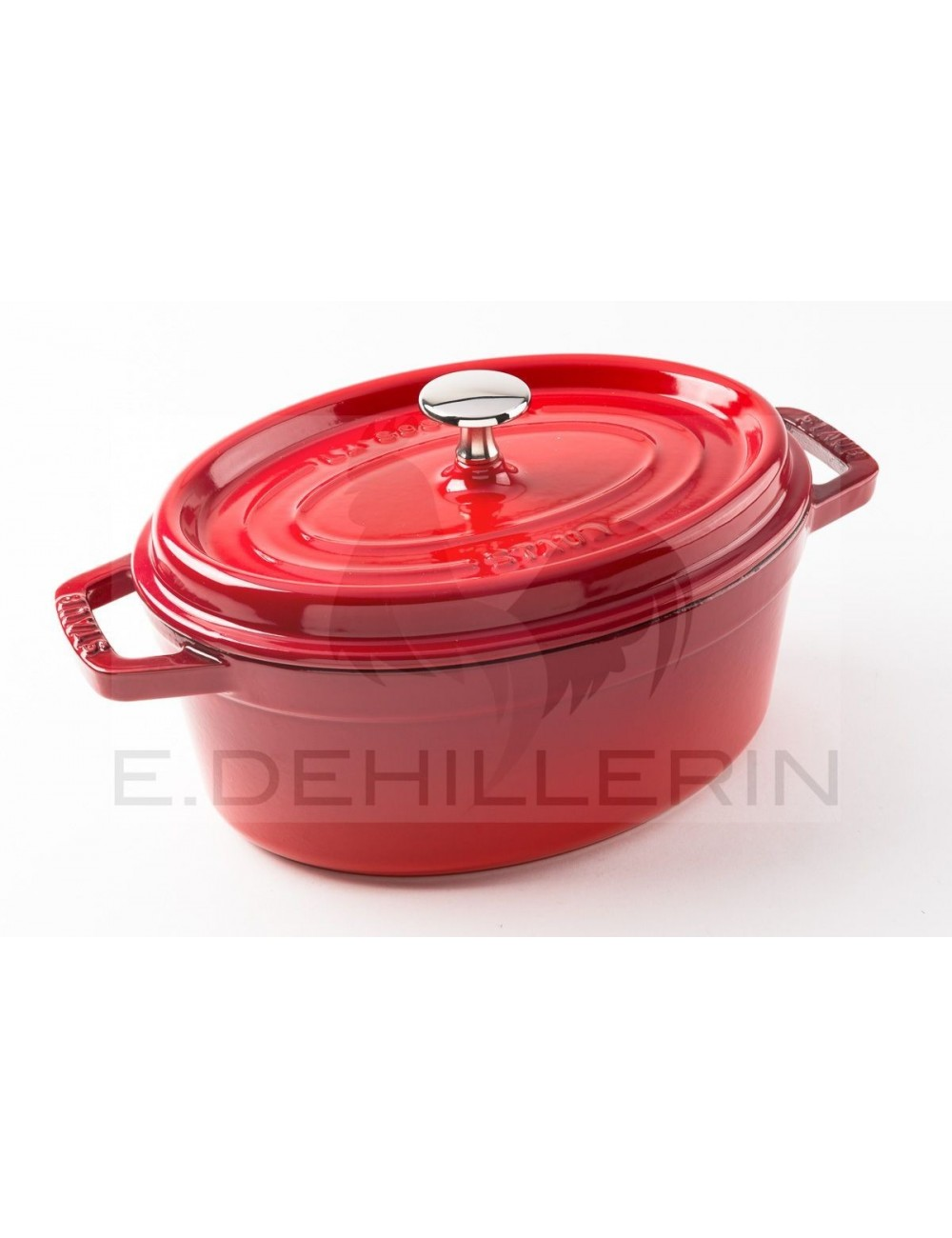 COCOTTE FONTE OVALE ROUGE - STAUB