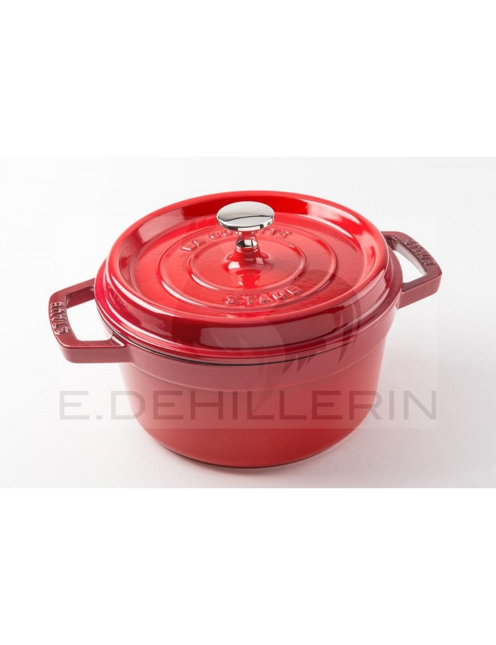 Cocotte fonte ronde rouge staub materiel de cuisson - Cocotte ronde en fonte ...